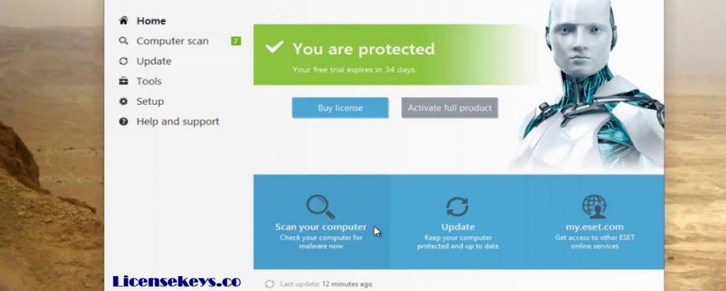 ESET NOD32 Antivirus 12.1.34.0 Crack With License Key 2019 [Latest]