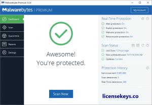 Malwarebytes 4.1.1.167 Crack + License Key 2020 {Premium}
