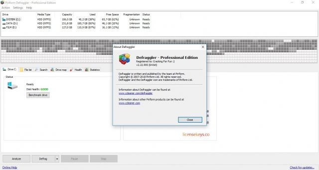 Defraggler Professional 2.22.995 Crack & Serial Key Free Download