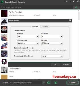 TunesKit Spotify Converter 1.9.0 Crack + License Key [Latest]